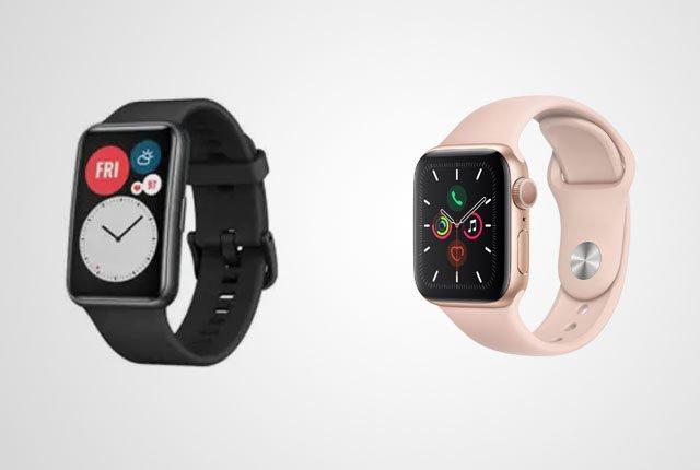 een goedkope smartwatch vergeleken met een dure smartwatch