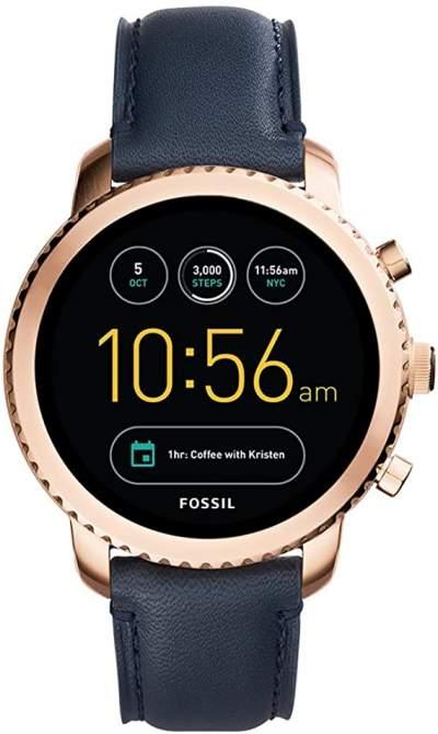 Fossil Q Explorist Smartwatch leer FTW4002