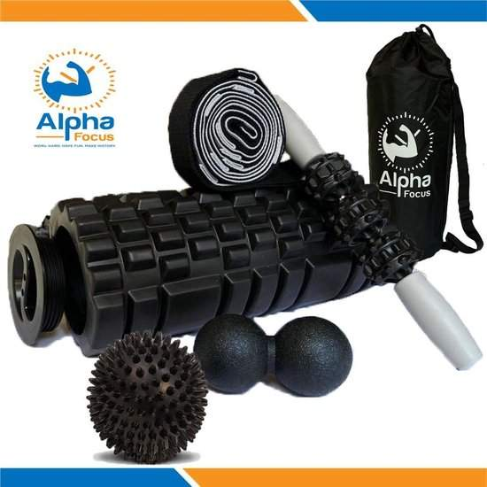 Alpha Focus 5 in 1 Yoga Foam Roller Set