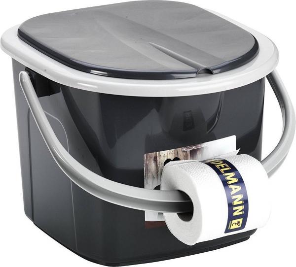 Branq Toiletemmer Draagbaar met Deksel