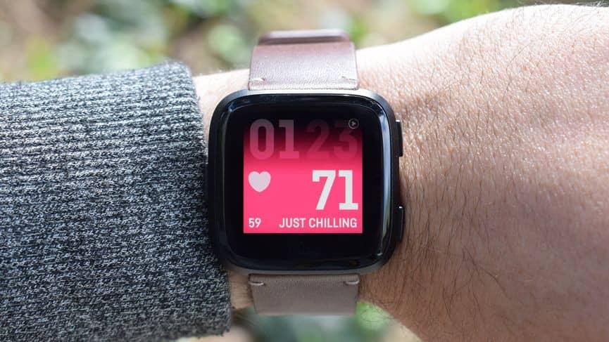 Fitbit Versa Fitness, gezondheid en hartslag