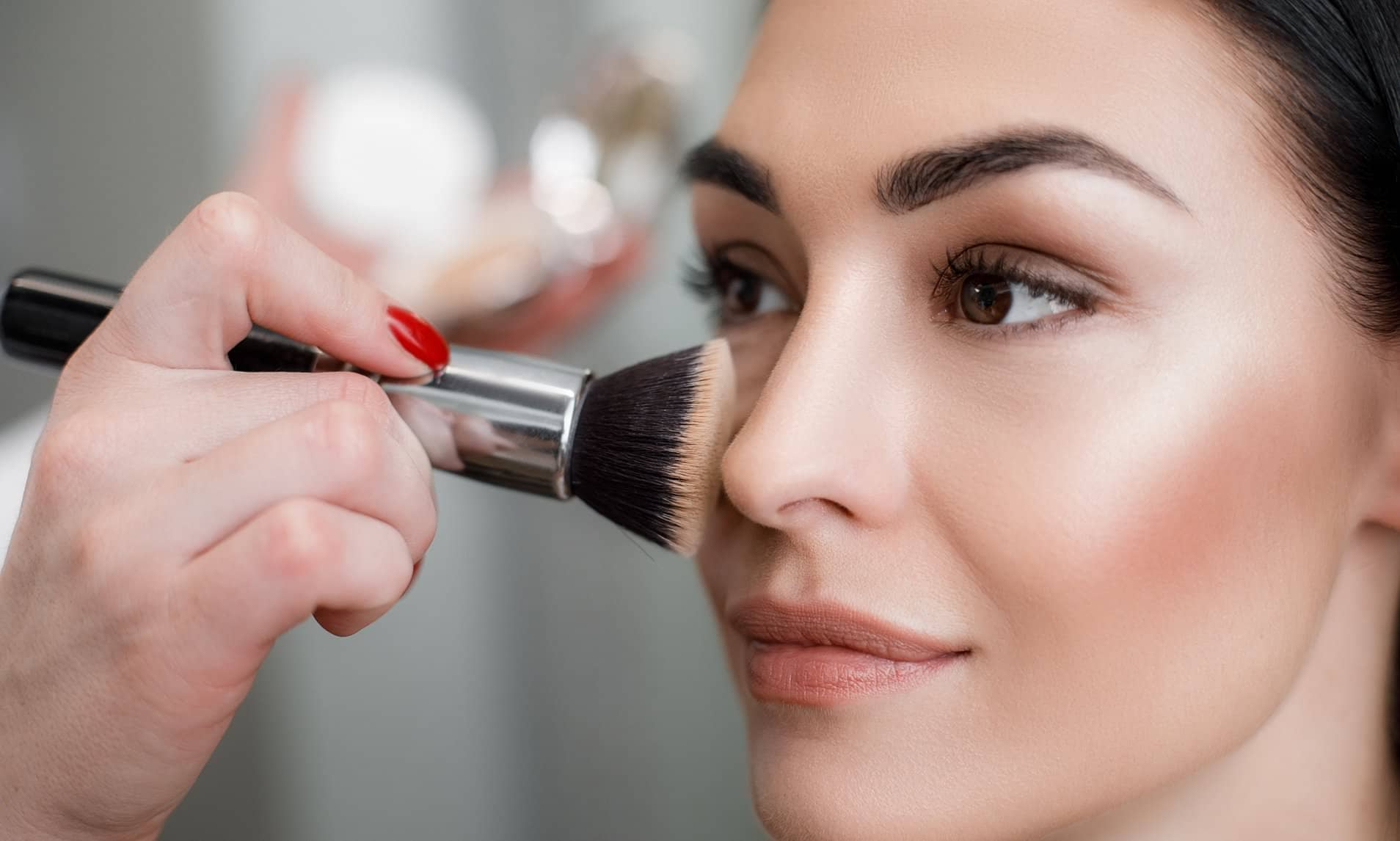 how to apply face powders